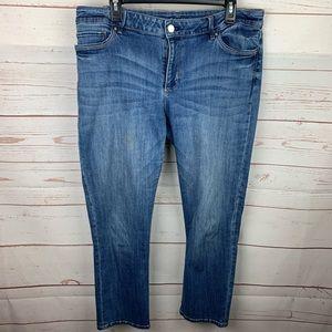 WHBM | The Slim Crop Medium Wash Jeans